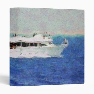Boat painting 3 ring binder