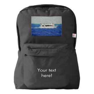 Boat painting backpack