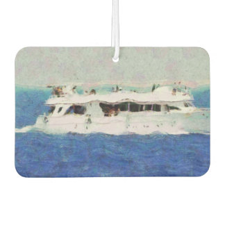 Boat painting car air freshener