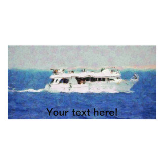 Boat painting card