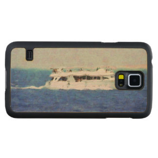 Boat painting carved maple galaxy s5 case