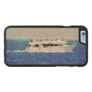 Boat painting carved maple iPhone 6 case