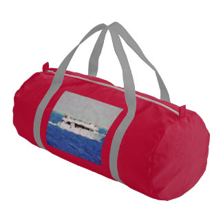 Boat painting gym bag