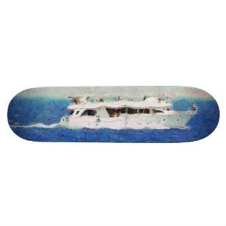Boat painting skate decks