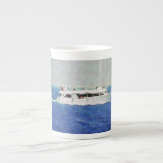 Boat painting tea cup