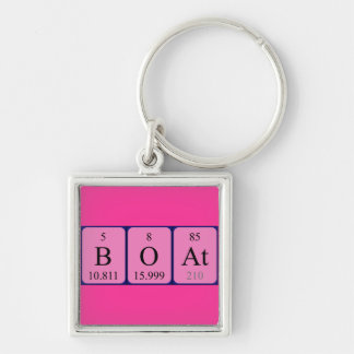 Boat periodic table keyring