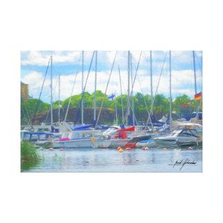 Boat Pier Canvas Print