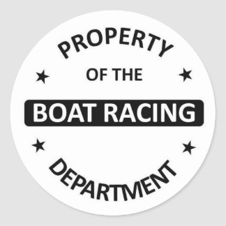 Boat Racing Department Classic Round Sticker