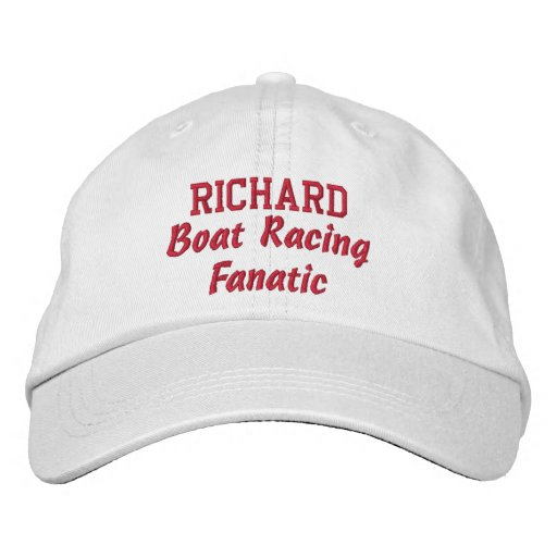 Boat Racing Fanatic Custom Name Embroidered Baseball Caps