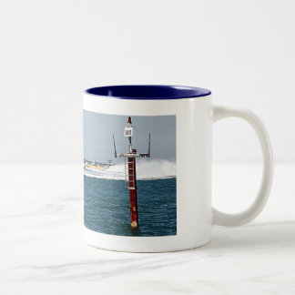 Boat Racing in Key West Two-Tone Coffee Mug