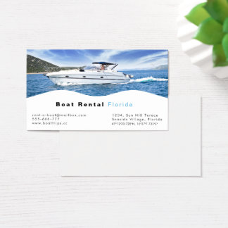 Boat rental Business Card