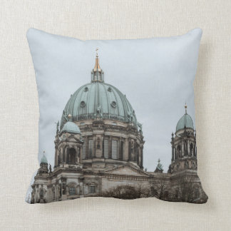 Boat ride in the Spree in Berlin Throw Pillow