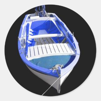 Boat Round Sticker