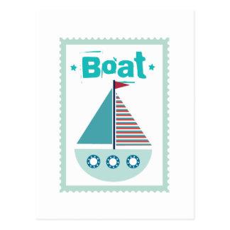 Boat Sailboat Boating Sailing Nautical Postcard
