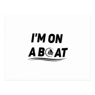 Boat Sailing Fishing Gift Funny Postcard