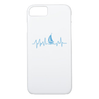 Boat Sailing Gift Heartbeat Funny Sailboat iPhone 8/7 Case