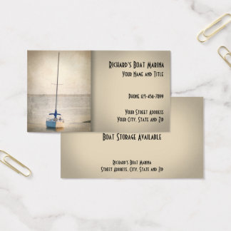 Boat Sales Marina Business Card
