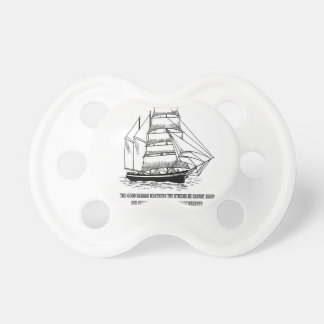 boat saying on the seas baby pacifier