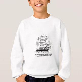 boat saying on the seas sweatshirt