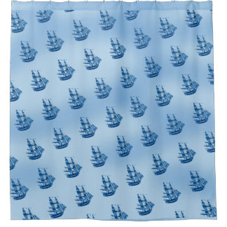 BOAT SEA Shower Curtain