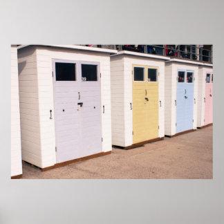 Boat sheds at Lyme Regis, UK Poster