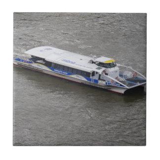 "Boat Small (4.25"" x 4.25"") Ceramic Photo Tile"