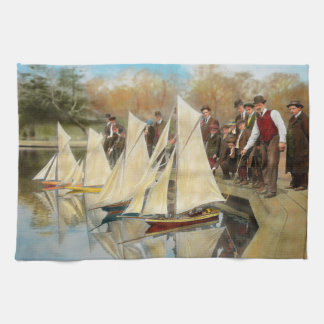 Boat - Sorry kids this ones mine 1910 Hand Towel