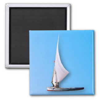 Boat Square Magnet