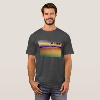 Boat Sunset Maine Tee for Him
