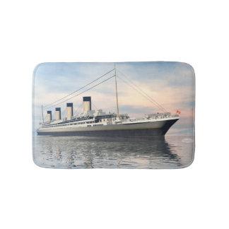 boat_titanic_close_water_waves_sunset_pink_standar bath mat