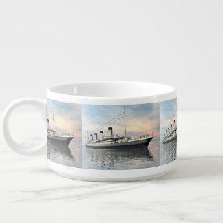 boat_titanic_close_water_waves_sunset_pink_standar bowl