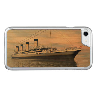 boat_titanic_close_water_waves_sunset_pink_standar carved iPhone 8/7 case