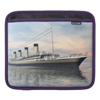 boat_titanic_close_water_waves_sunset_pink_standar iPad sleeve
