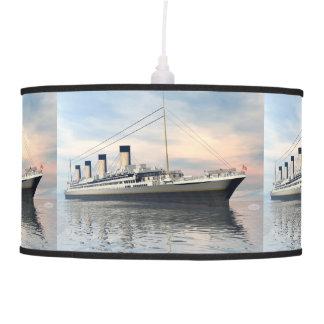 boat_titanic_close_water_waves_sunset_pink_standar pendant lamp