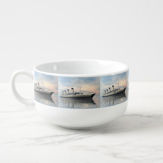 boat_titanic_close_water_waves_sunset_pink_standar soup mug