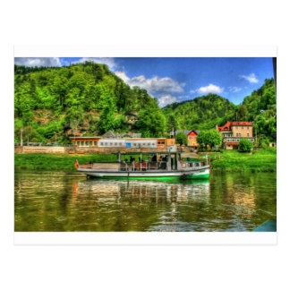 Boat Trip on the River Elbe Postcard