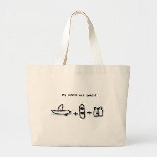 Boat + Wakeboard + Jacket Large Tote Bag