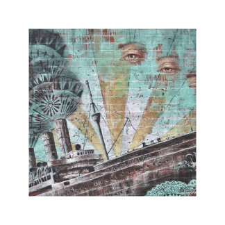 Boat Watcher Graffiti Art Canvas
