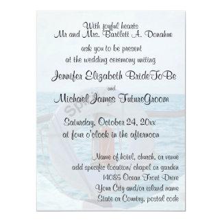 "Boat Wedding 6.5"" X 8.75"" Invitation Card"