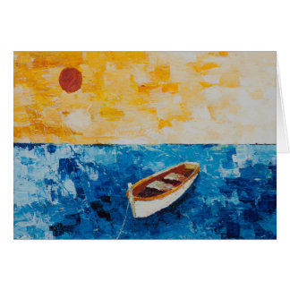"""""""Boat With A Secret"""" by Chris Rice Note Cards"""