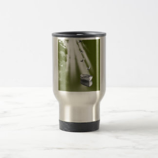boat with birds back to home. travel mug