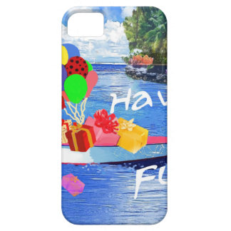 Boat with gift Have fun. iPhone 5 Cases