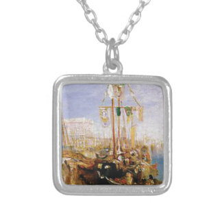 boat without sails silver plated necklace