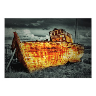 Boat Wreck Art Photo