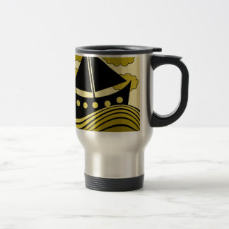 Boat - yellow 15 oz stainless steel travel mug