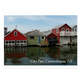 Boathouse: City Pier, Canandaigua, NY Postcard