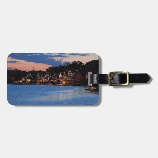 Boathouse Row dusk Bag Tag
