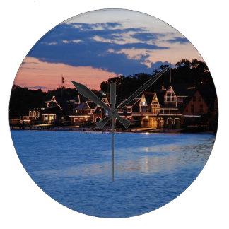 Boathouse Row dusk Clock