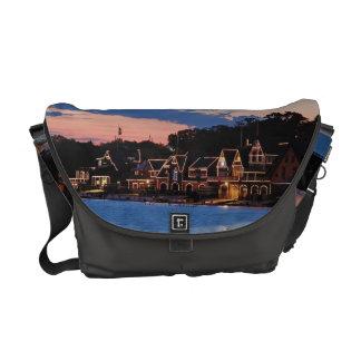 Boathouse Row dusk Commuter Bag
