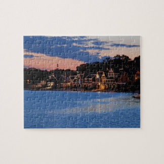 Boathouse Row dusk Jigsaw Puzzle